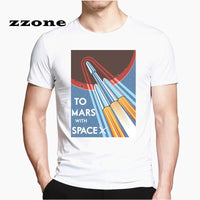 Spacex Graphic T shirt Men And Women Top Tees Casual Funny Design Popular Occupy Mars Space X Tshirt HCP4538