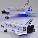 LeadingStar 8 Inch Alloy Force Control Space Shuttle Model with Light & Sound Toy Plane Gift Ornament ZK30