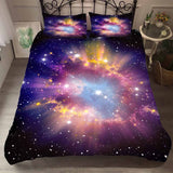 Galaxy Bedding Set Outer Space Microfiber Duvet Cover Set with Pillowcase 2/3PCS Twin Full Queen Size Bed Linen Set Bedclothes