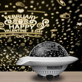 Magic UFO projector light outer space spot night led light romantic bluetooth music decor lamp for families friend kids gift