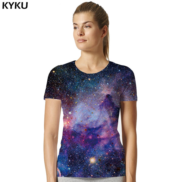 Galaxy Shirt Space Universe 3d Print Tshirt Women Hort Sleeves Womens Brand Clothing Hip Hop top Tees Summer Cool Hiphop Clothes