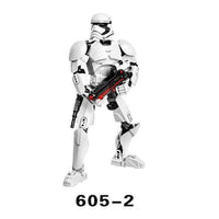 lepining Star Space War KSZ Star Wars Darth Vader White Trooper Figure Toys Building Blocks Bricks lepining Star Plan