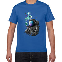 YEV F629MT creative planet cotton t shirt men loose cool spaceman T-shirt casual summer funny tshirt Tee shirt homme men clothes