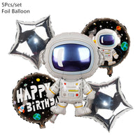 Outer Space Party Astronaut Rocket Foil Balloons Galaxy Solar System Theme Boy Kids Birthday Decoration Baby Shower Favor toys