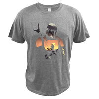 Mandalorian T Shirt Star Wars Boba Fett Space Opera TV Series T-shirt Science Fiction Movies Tshirt EU Size Casual Tees
