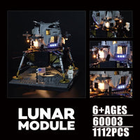 New 2020 Creator Expert Apollo 11 Moon Space Rocket Lunar Lander Compatible 10266 Building Blocks Kit Toys For Boys Child Gift