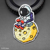 Little Astranaut Iron On Embroidered Clothes Patches For Clothing Garment Wholesale Space Theme