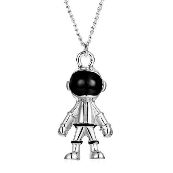 Astronaut Pendant Necklace New Hip Hop Universe Space Astronaut Robot Pendant Chain Galaxy Universe Spaceman Party Jewelry Gift