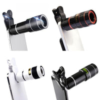 20X Telescope Zoom Lens Monocular Mobile Phone Camera Lens For Digital Camera Mobile Phones Outdoor Camping Hunting Sports Tools