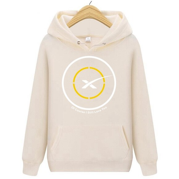 Space X Car Men's Of Course I Still Love You Drone Ship First Stage Landing Hoodies Men Sweatshirts Cars SpaceX Hoodie JACKET