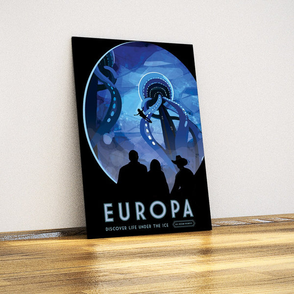 Europa Moon-NASA-Decorative Metal Plate