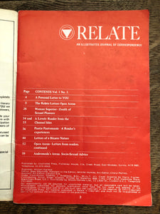 Relate Vol 1 No 1