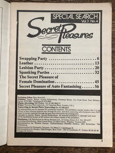 Secret Pleasures Vol 4 No 4
