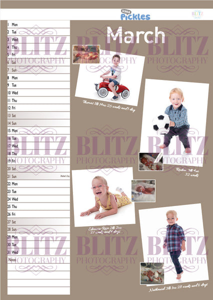 Ickle Pickles Calendar