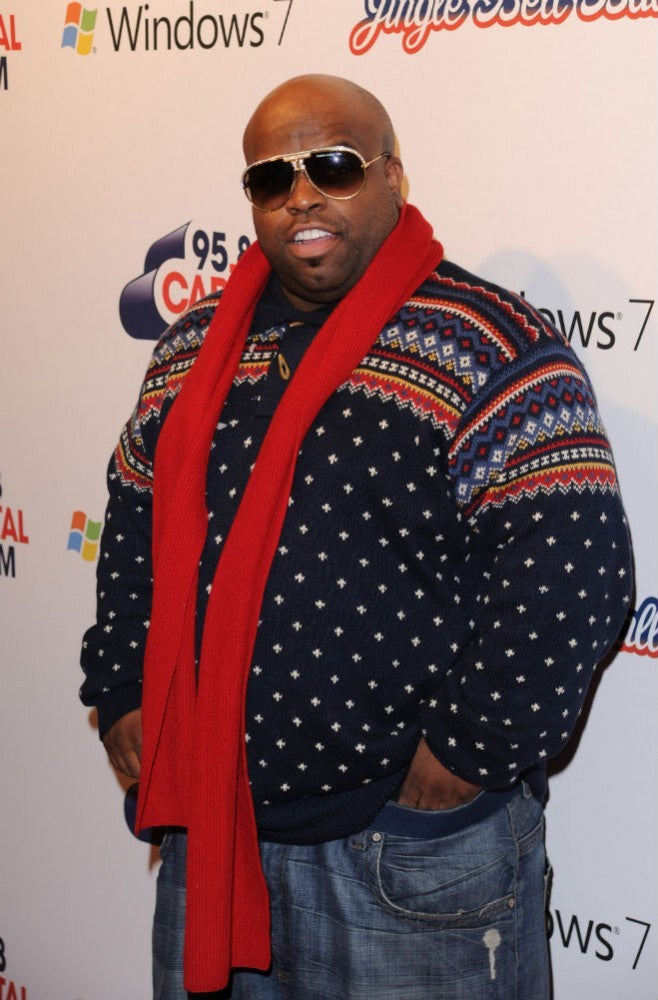 CeeLo Green in a Christmas sweater