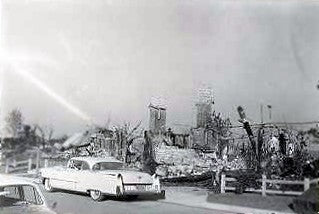 The house in 1961 after the fire