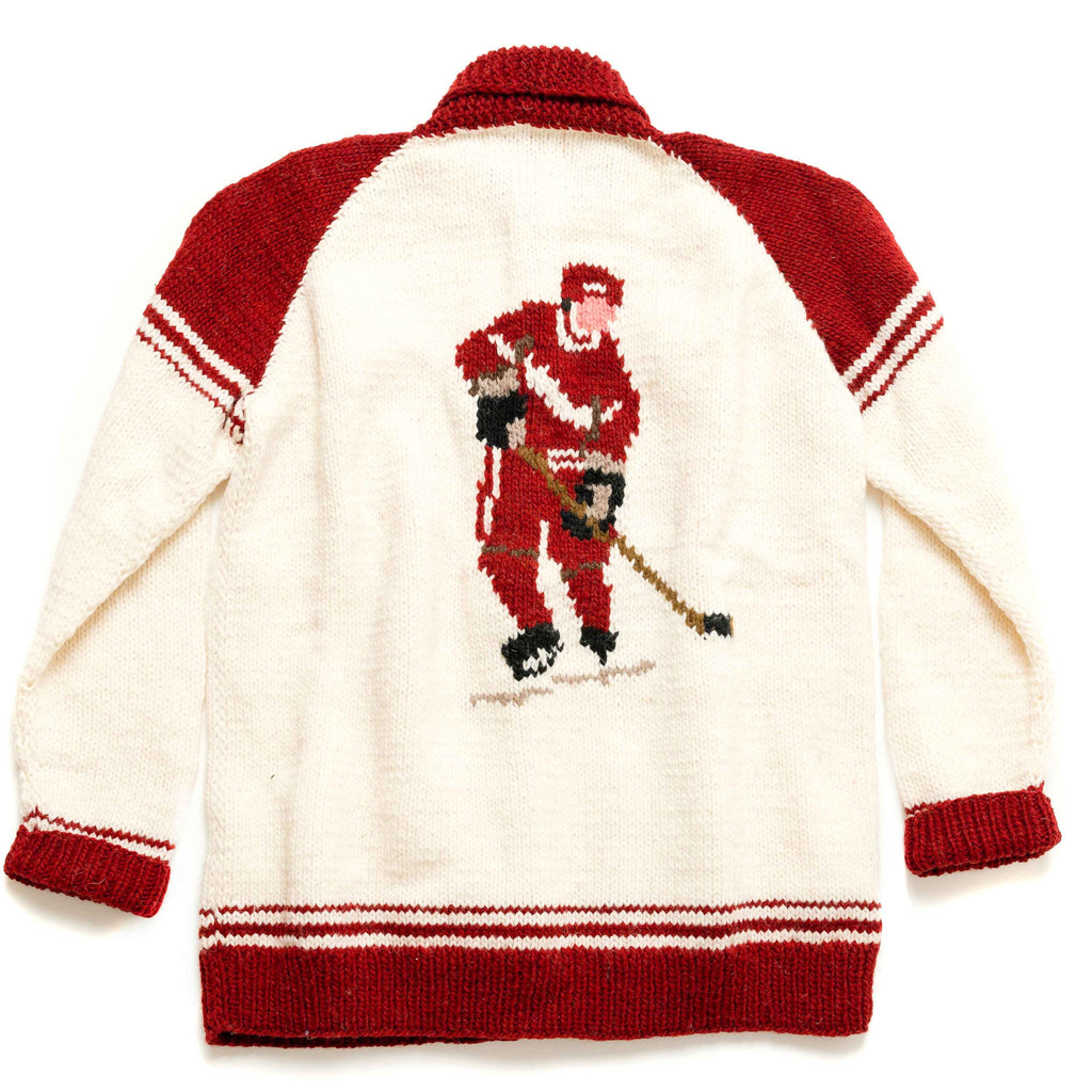 Hockey Player hand knit sweater