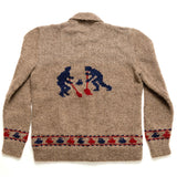 Hand Knit Wool Curling Sweater