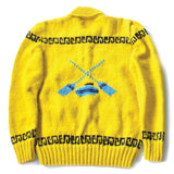 Yellow Wool Hand Knit Curling Sweater