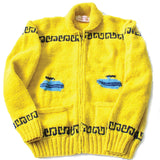 Yellow Wool Curling Sweater
