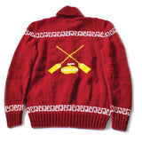 Red Wool Curling Sweater