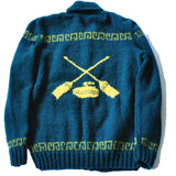 Green Wool Curling Sweater