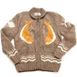 Mary Maxim Hand Knit Wool Anglers Pride Sweater