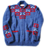 Blue Wool Curling Sweater