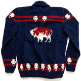 Navy Mary Maxim Buffalo Sweater