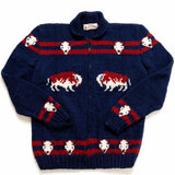 Navy Blue Mary Maxim Buffalo Sweater