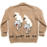 Mary Maxim Grey Wolves Sweater