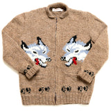 Mary Maxim Gray Wolves Sweater