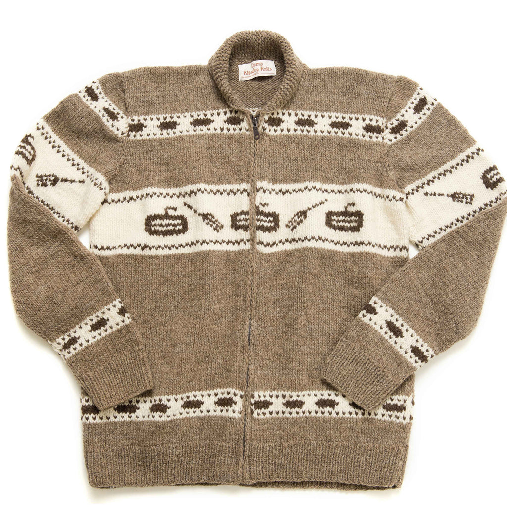 White Buffalo Wool Curling Sweater