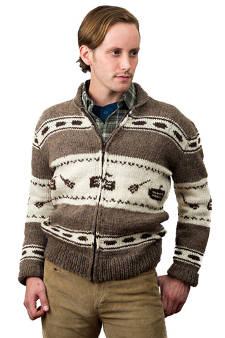 White Buffalo Curling Sweater