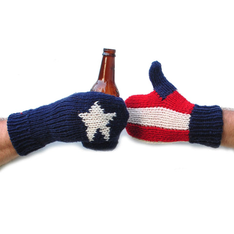 USA Flag Beer Mittens