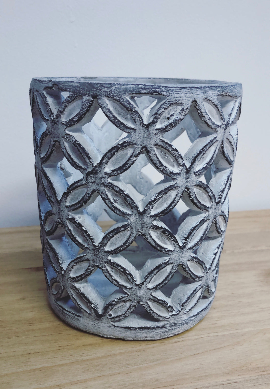 Geometric Stone Candle Sconce