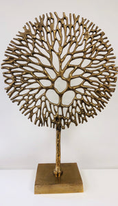 Golden Coral Sculpture
