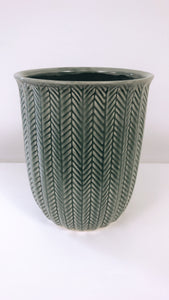 Medium Ceramic Grey Vase