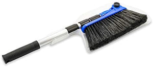 Camco Adjustable Broom and Dustpan, Gets In Small Spaces and Corners, Telescoping Broom