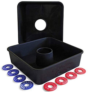 Driveway Games All Weather Washoos Washer Toss Game Set. 8 Pitching Rings & Toss Targets : Sports & Outdoors