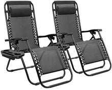 Load image into Gallery viewer, Zero Gravity Chair Patio Folding Lawn Lounge Chairs - set of 2