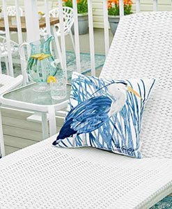 Blue Heron Decorator Pillow, Indoor Outdoor Use: Home & Kitchen