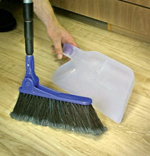 Load image into Gallery viewer, Camco Adjustable Broom and Dustpan, Gets In Small Spaces and Corners, Telescoping Broom