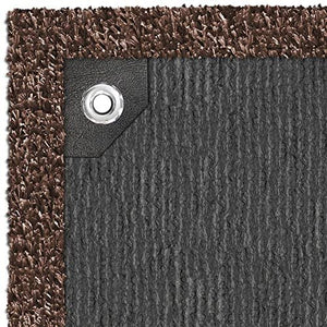 Patio Rug Espresso Brown 6 Ft. x 15 Ft.