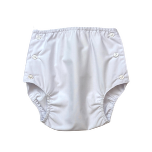 Dapper Diaper Cover - White