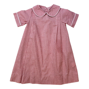 Classic Daygown - Red Windowpane
