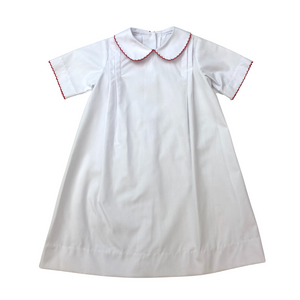 Sample - Classic Daygown - White/Red