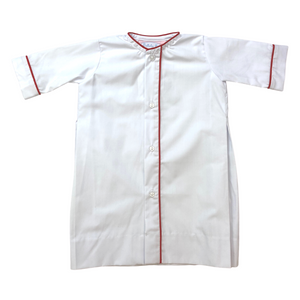 Welcome Little One Daygown - White/Red