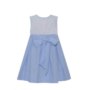 Daisy Dress - Blue Stripe
