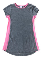 Load image into Gallery viewer, Lindsey Long Tee - Heathered Grey/Hot Pink